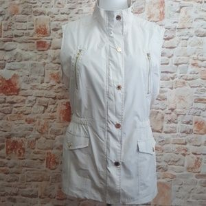 New Jones New York Cream Utility Vest